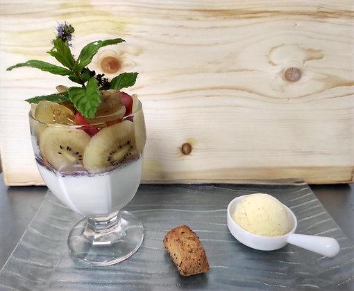 Panna Cotta vanille et fruit frais