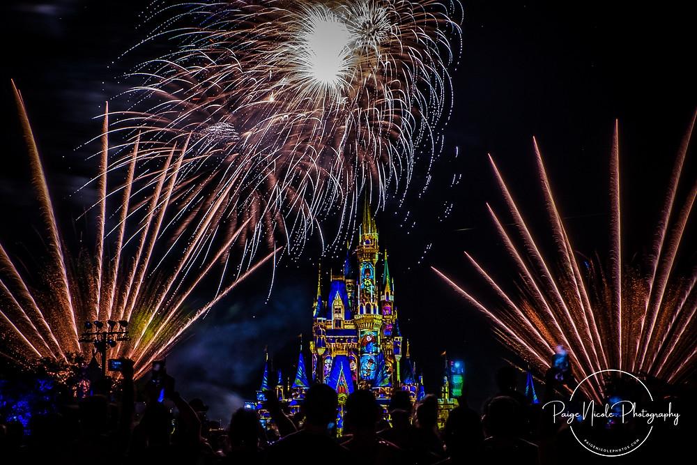 Check out the Disney Firework show at Walt Disney's Magic Kingdom!