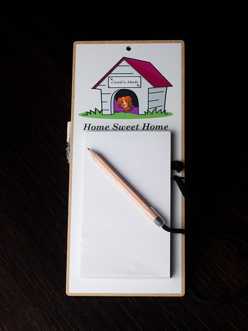 Magnetic Fridge Notepad, Candi Home Sweet Home