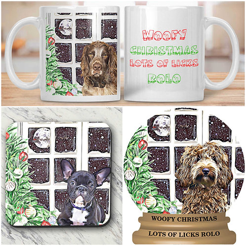 Cartoonise your pet printed on mug and coaster