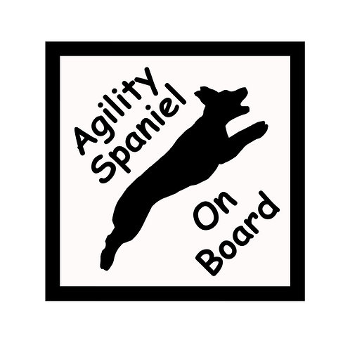 Car Sign - Agility/Flyball Dog On Board