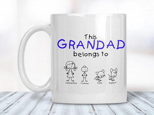 This Grandad/Grandpa/Grandma/Nana/Name Belongs to Mug