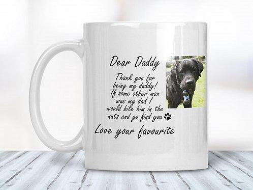 Dear Daddy From The Dog Funny Mug