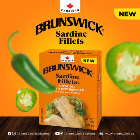 Brunswick Sardine Fillets Hot Peppers