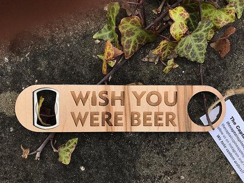 Wood + Metal Beer Bottle Opener