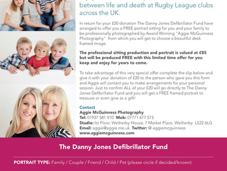 Family photo shoot in support of The Danny Jones Defibrillator Fund