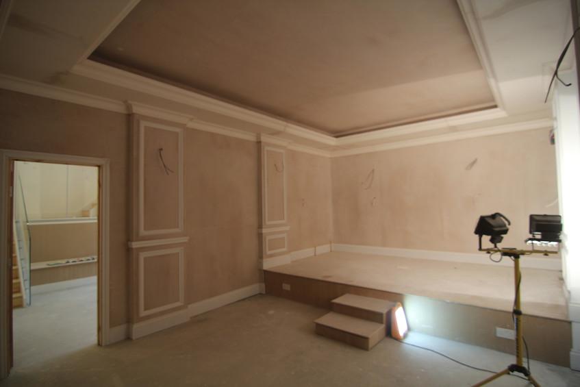 Room plastered