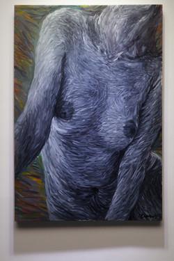 朱__Zhu Fadong《新人体New human body No.2015 10》 100cm X 146cm布面油_Oil on canvas  , 2015.HKD95000.