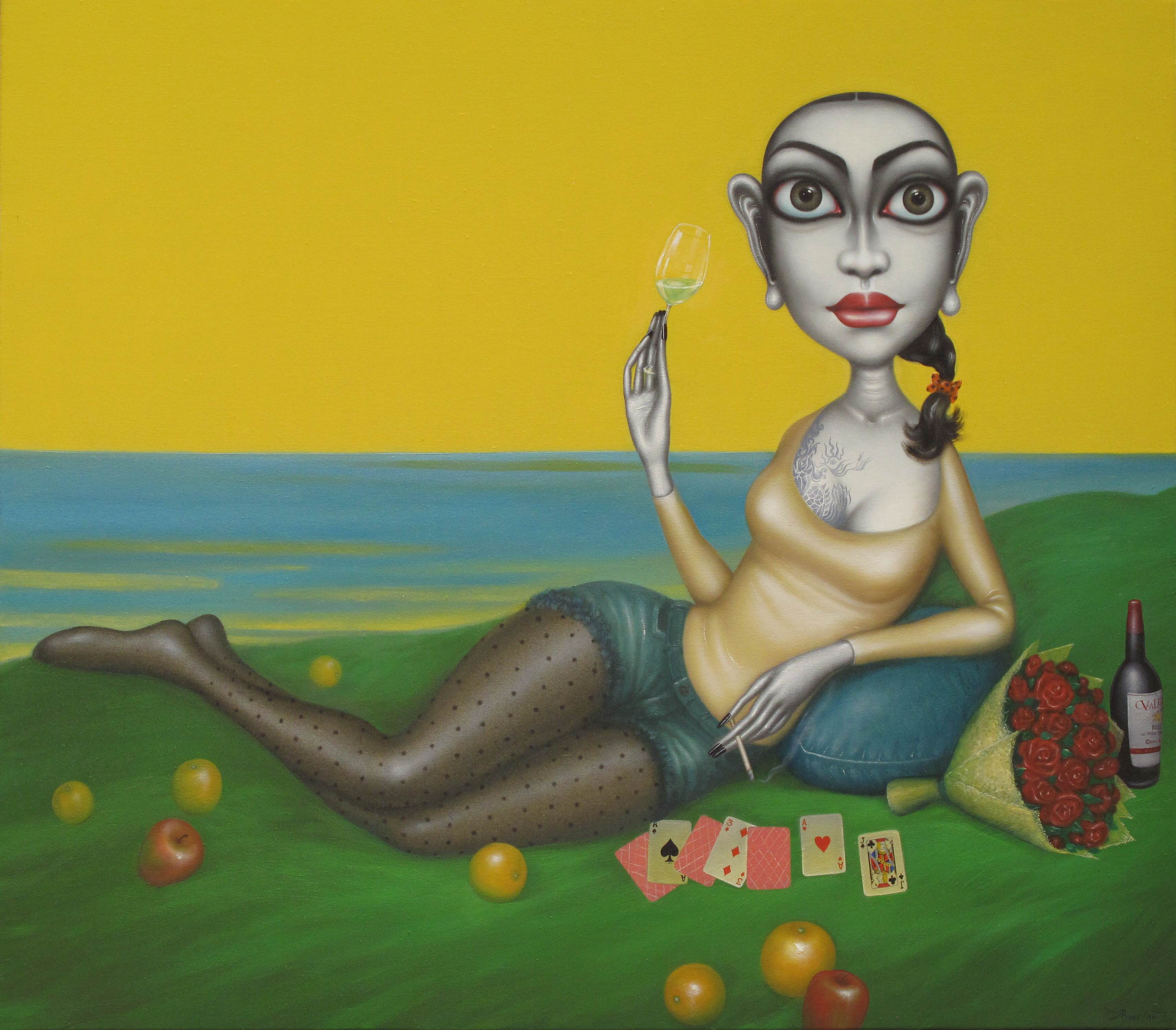 Crazy People Happy Day_Oil painting_128x145cm