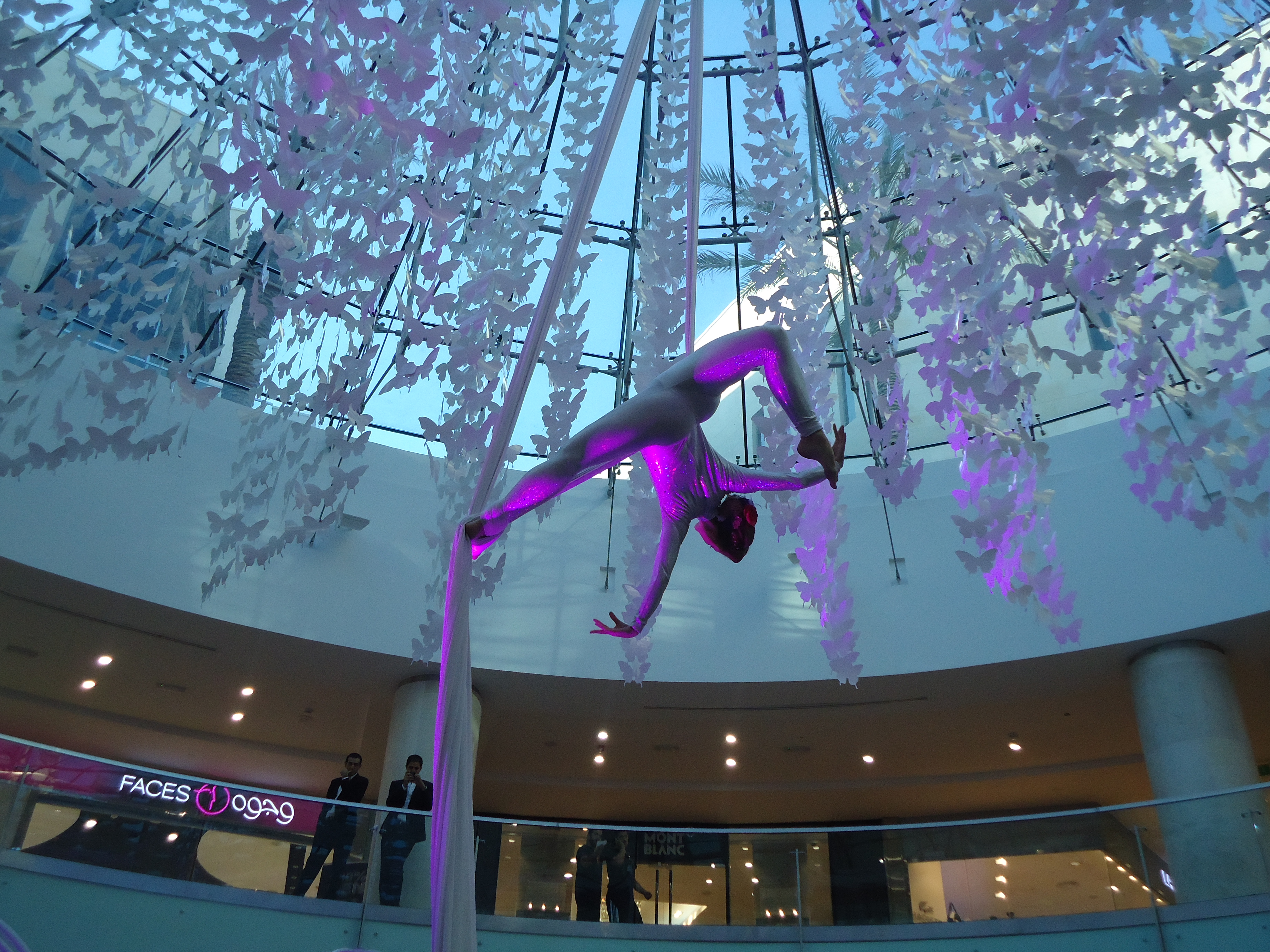 Aerial Silks Beirut Shopping Centre