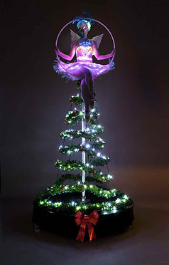 Christmas LED lollipop hoop act. Freestanding aerial hoop, Lollipop Lyra