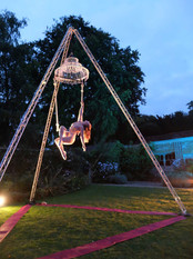 Freestanding Aerial Tripod with Chandelier & Trapeze