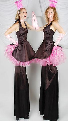 Pink Cotton Candy Stiltwalkers
