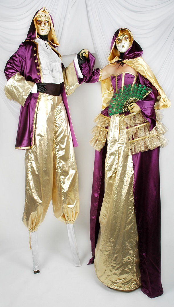 Venetian Masked Ball Stiltwalkers