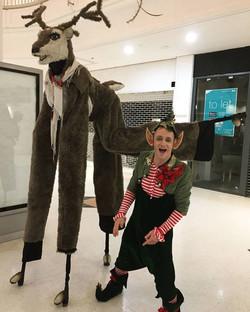 Christmas Lorraine Deer & Elf