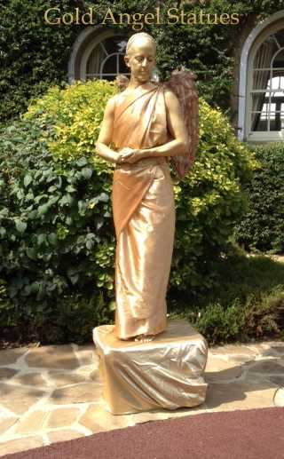 Gold Angel statue named
