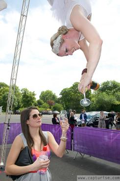 Champagne Glitterati - Aerial Bartending - Tripod Aerial Rig
