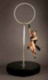 Gatsby Lollipop Hoop aerial hoop act freestanding aerial hoop, Lollipop Lyra