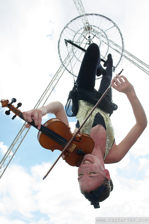 Aerial Violinist