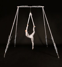 Enchanted Winter Freestanding Aerial Rig with Silks