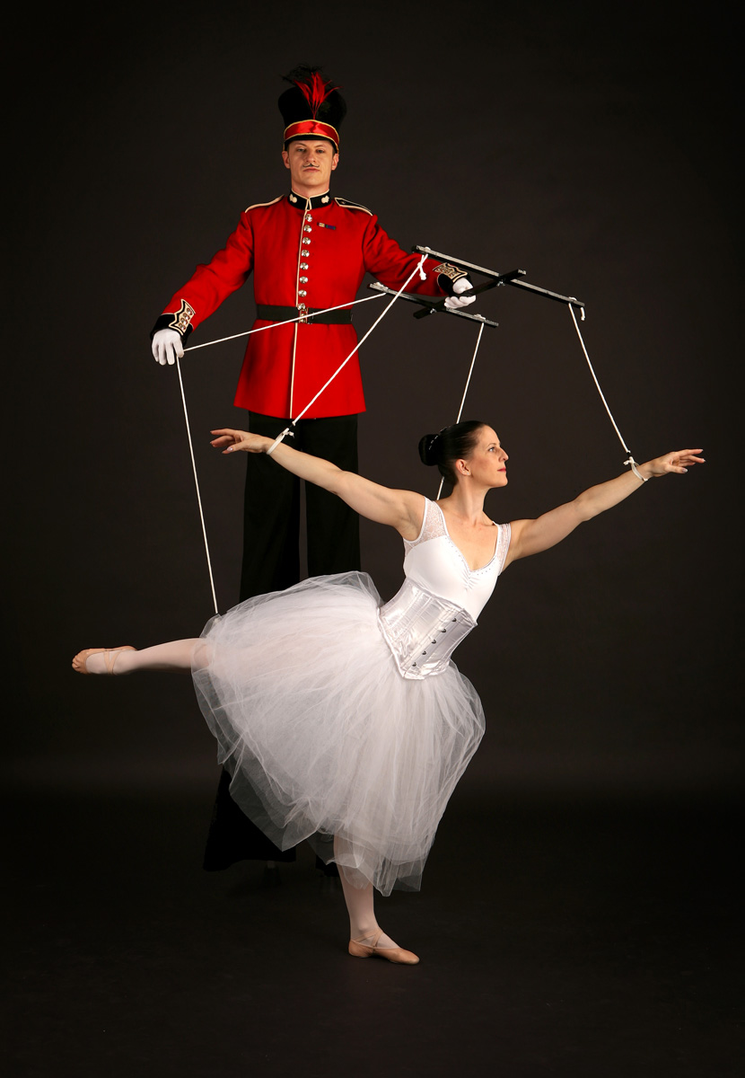 Nutcracker Toy Soldier & Ballerina (2)