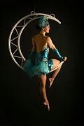 aerial moon aerialist hoop lyra acrobat
