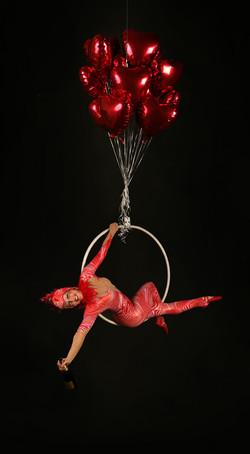 Aerial Bar Tending - Red Cirque
