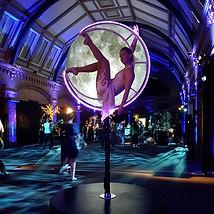 Freestandig aerial moon lyra hoop