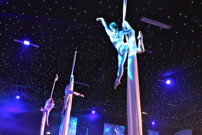 Aerial Silks trio - corporate event