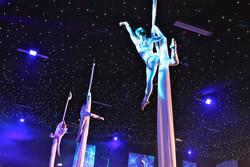 Aerial Silks trio - corporate event
