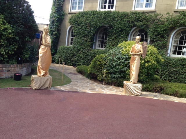 Gold Angel Statues