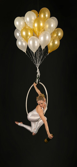 Aerial Hoop - Champage Balloons