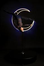 Moona - Blue Moon - Freestanding LED Aerial Moon