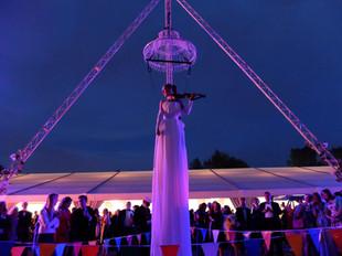 Freestanding Aerial Triopod - Chandelier & Violinist