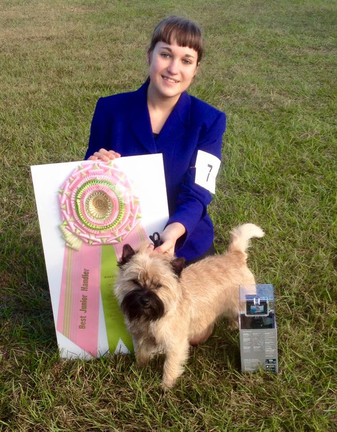 Best Junior Handler win in FL. Congrats Abby and Chief!