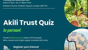 Akili Trust Quiz: in person!