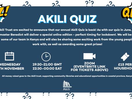 Event: Akili Quiz - Nov 2020!