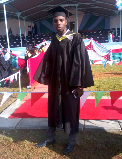 Lawrence in his graduation robes