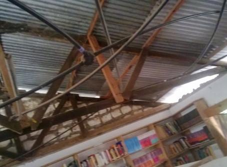Kakuyuni Library: Collapsed Ceiling