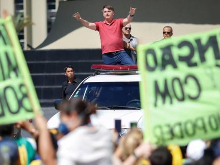 Presidente fala sobre ida a manifestação no último fim de semana