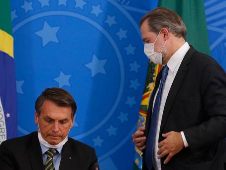 Bolsonaro envia para Toffoli texto com pedido para que as pessoas não ataquem o Congresso e  Supremo