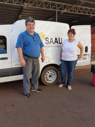 Entrega das doações dos cursos de Arquitetura e Urbanismo e Engenharias Mecânica, Civil e Agronômica à SAAU