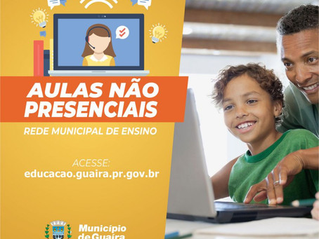 Guaíra: Prefeitura divulga aulas não presenciais da Rede Municipal de ensino