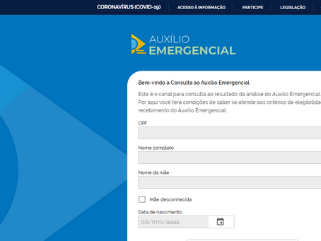 Governo lança ferramenta de consulta sobre auxílio emergencial