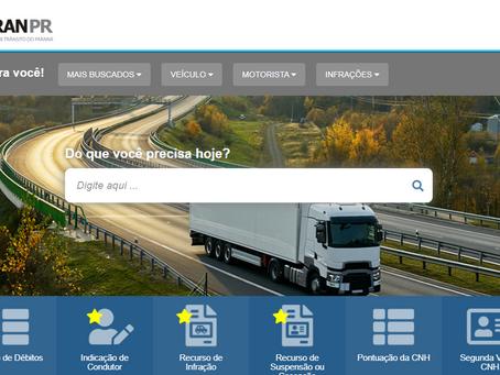 Detran Paraná coloca no ar novo portal de serviços