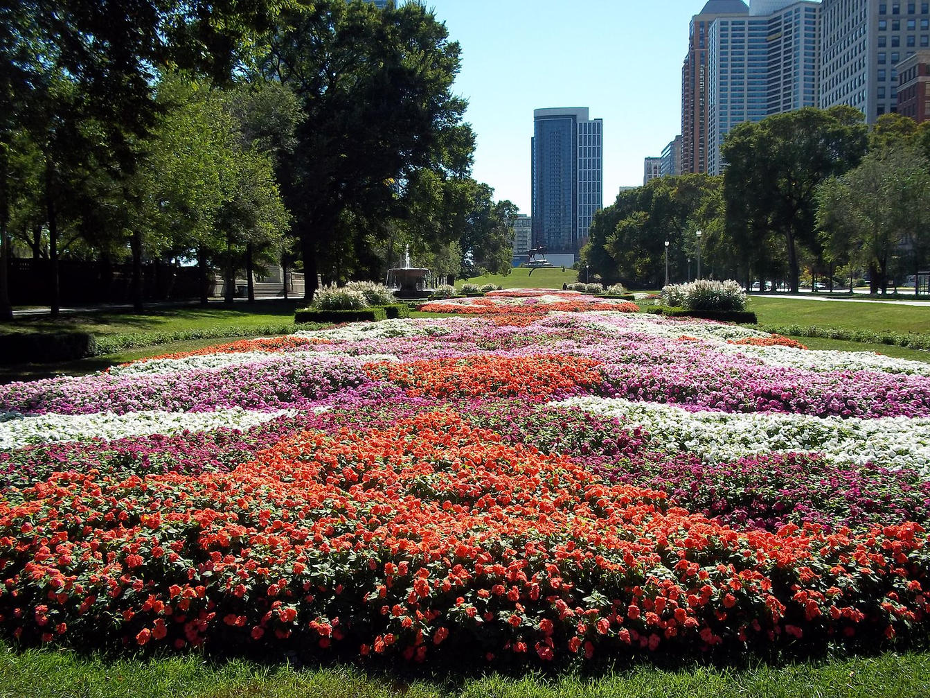 Grant_Park_Chicago_garden_near_9th_Stree
