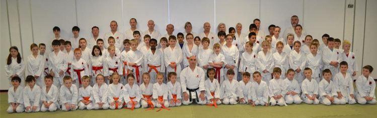 Students From Kaizen Karate Club Grading at Sunderland Sendai
