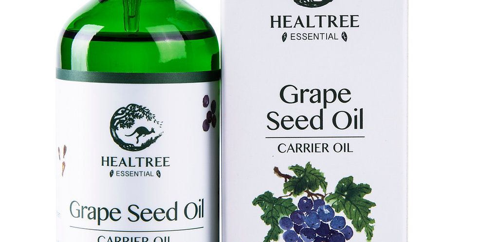 Grape Seed Oil 100ml - 100% Pure & Natural Cold Pressed Carrier Oil