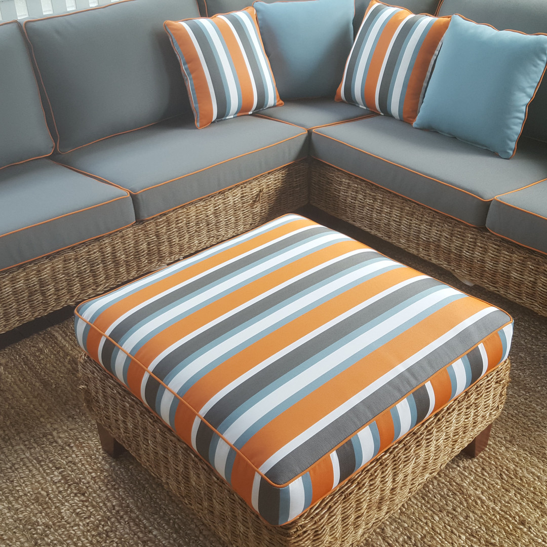 Custom Cushions and Footstool