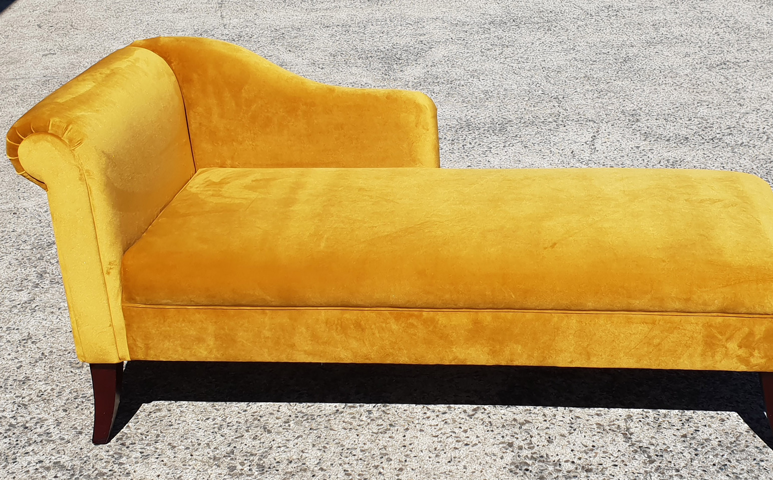 Restored & Renewed Plush Chaise.